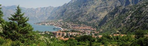 View at the bay of Kotor Stock Image