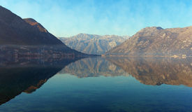 View of Bay of Kotor, Montenegro Royalty Free Stock Photos
