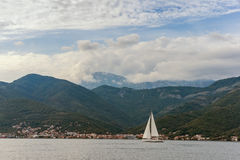View of  Bay of Kotor. Montenegro Stock Images