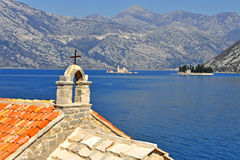 View of the bay of Kotor Risan Stock Photos