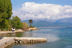 View of Bay of Kotor on a spring day.  Montenegro Royalty Free Stock Photography