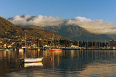 View of Bay of Kotor. Tivat city, Montenegro Stock Photography