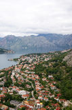 View of the Bay of Kotor Royalty Free Stock Images