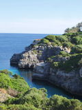View on a bay on menorca spsin Stock Image