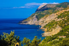 View of the bay of Monte Argentario Stock Photo