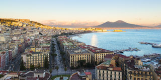 View of the Bay of Naples with Vesuvius Stock Photography