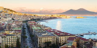 View of the Bay of Naples with Vesuvius Stock Photos