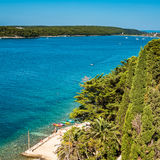 View at the bay near the city of Rab on the Adriat Royalty Free Stock Images