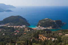 View of the Bay Paleokastritsa. Greece, Corfu Royalty Free Stock Images