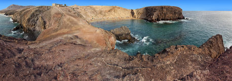 View at bay of Papagayo beach, Lanzarote Royalty Free Stock Image