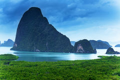 View of the Bay of Phang Nga Stock Image