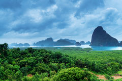 View of the Bay of Phang Nga Royalty Free Stock Photography