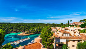 Beautiful view of mediterranean coast landscape on Majorca island. Royalty Free Stock Images