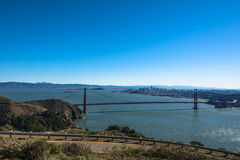 View of the bay of San Francisco from Headlands Stock Photo