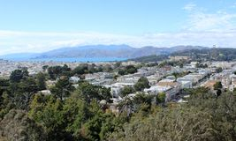 View of the bay of San Francisco on a sunny summer day stock image