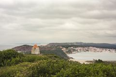 View of the bay of Sao Martinho do Porto Royalty Free Stock Photography