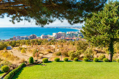 View on bay of Sunny beach resort Royalty Free Stock Photo