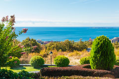 View on bay of Sunny beach resort Royalty Free Stock Photography