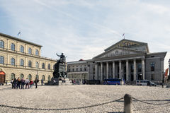 View of the Bayerisches Nationaltheatere National Theater of Ba Stock Photos