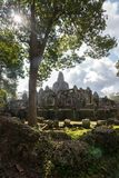 View of Bayon in Seam Reap, Cambodia. View of Bayon in sunny day in Seam Ream, Cambodia Stock Image