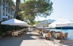 Baywalk.  Brijuni. Croatia Royalty Free Stock Images
