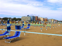 View of the beach. Italy, Adriatic Sea Royalty Free Stock Image