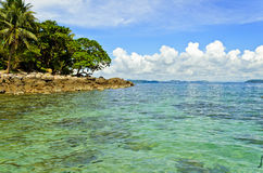 View From The Beach. The peaceful and beautiful island in the Gulf of Thailand Royalty Free Stock Photos
