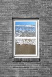 View the beach. A window view of the ocean Royalty Free Stock Images