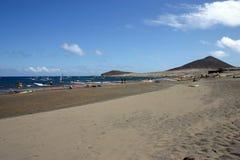 View of beach. Windsurfing beach in tenerife stock image
