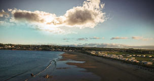 View of beach against blue sky. Idyllic view of beach against blue sky Royalty Free Stock Image
