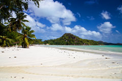 View of beach Anse Volbert Stock Images