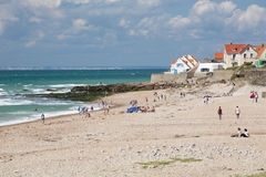 View of the beach at Audresselles Royalty Free Stock Images