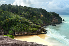 View on the beach in Bako National Park Royalty Free Stock Image