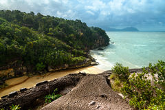 View on the beach in Bako National Park Royalty Free Stock Photos
