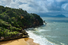 View on the beach in Bako National Park Stock Photos