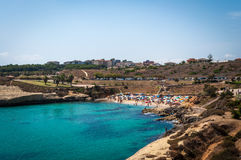 View of beach of balai. Landscape of beach of Balai, Sardinia, in a sunny day of summer Stock Images