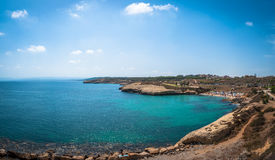 View of beach of balai. Landscape of beach of Balai, Sardinia, in a sunny day of summer Stock Image