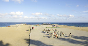View of the beach of Barceloneta Royalty Free Stock Photo