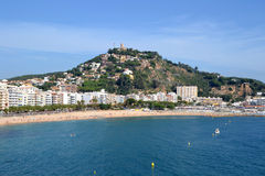 View of the beach of Blanes, Spain Stock Image