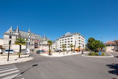 The Beach Boulevard and the casino in Arcachon, France. View of the Beach Boulevard and the casino in Arcachon, a famous seaside resort of France Royalty Free Stock Photos