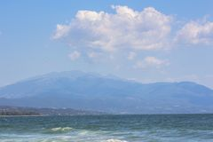 Summer romantic mood in a gentle blue - sea scenery. stock photography