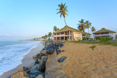 View of beach in Cape Cost, Ghana Stock Photos