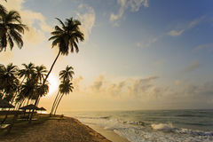 View of beach in Cape Cost, Ghana stock images