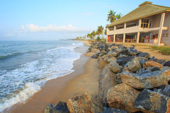 View of beach in Cape Cost, Ghana Royalty Free Stock Image