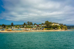 View of the beach in Capitola  Royalty Free Stock Photo