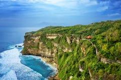 View of Beach Cliff. Near Pura Uluwatu temple, Bali island, Indonesia royalty free stock images