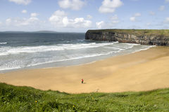 View of beach and cliffs in Ballybunion Royalty Free Stock Images