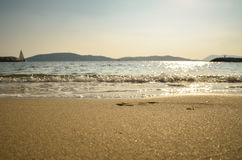 View of Beach at Daytime Royalty Free Stock Photos