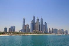 View on beach in Dubai Royalty Free Stock Photos