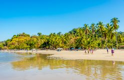 View at the beach Espadilla in Manuel Antonio National Park - Costa Rica stock images